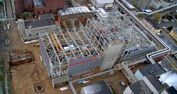 Bild 1 Luftaufnahme der Baustelle