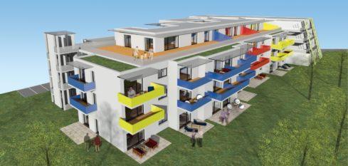Allplan: 220 188 BV Wohnanlage Seiersberg,Wohnbaut